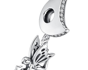 d4ad57880 925 Sterling Silver Believe Fairy Charm Beads For Bracelets Trendy Gifts  For Women Girl Beautiful Jewelry fit Pandora Bracelets
