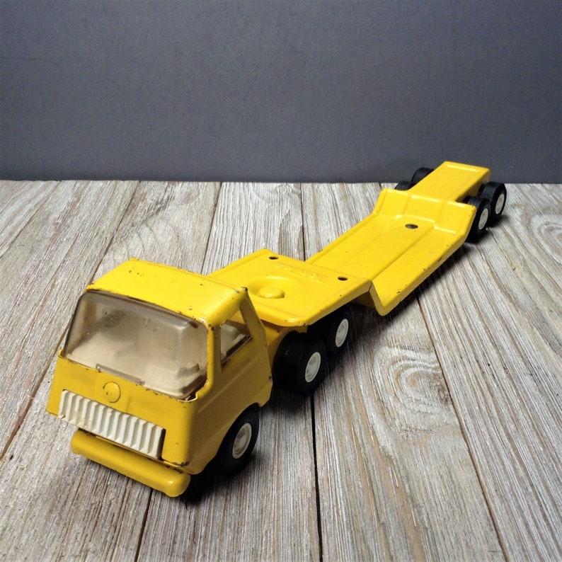Tonka Toy Trucks >> Tiny Tonka Lowboy Truck 695 Vintage Tonka 11 Flatbed Etsy