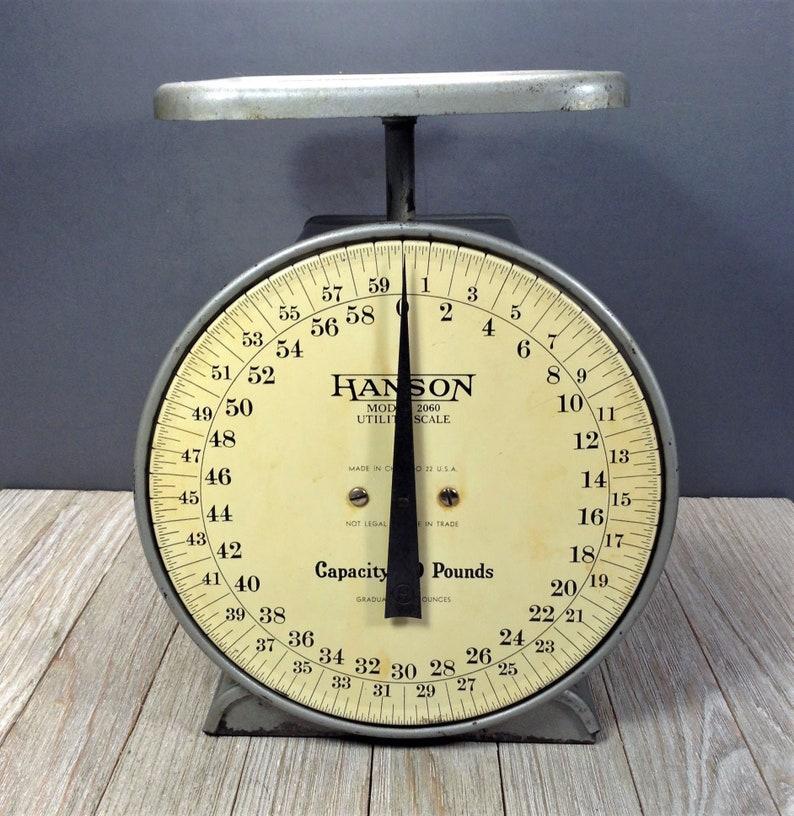 Vintage Kitchen Scale Hanson Model 2060 Utility Scale 60 Lb Etsy