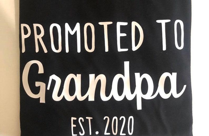 Pregnancy Announcement T-Shirt Grandpa Shirt Soon to be Grandpa