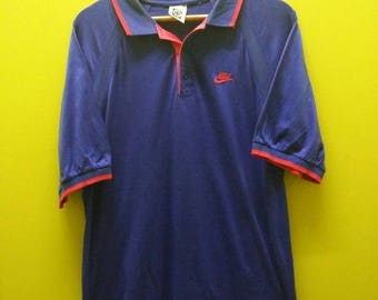 f11dc44f Vintage 90s Nike Challenge Court Andre Agassi Polo Shirt Rare