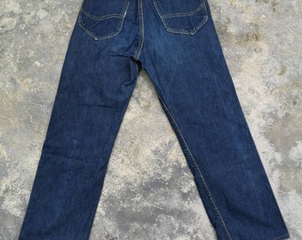 56c7b2e1 Vintage 1960s LEE RIDER 101Z Side tag Jeans Size 28x37 Rare