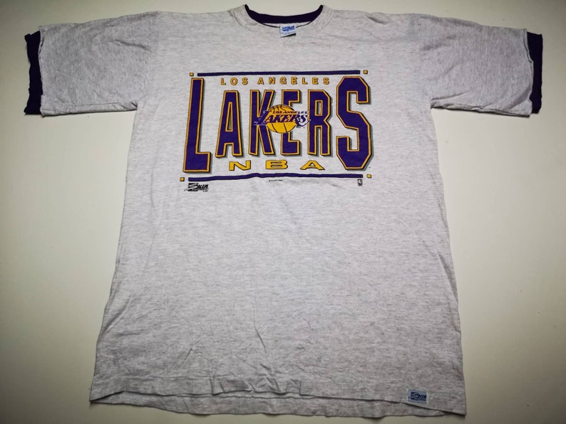 586ed8db12e Vintage LA Lakers NBA T Shirt by Salem Rare | Etsy