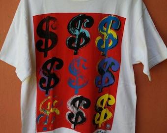 Vintage ANDY WARHOLS  Pop Art Shirt Rare