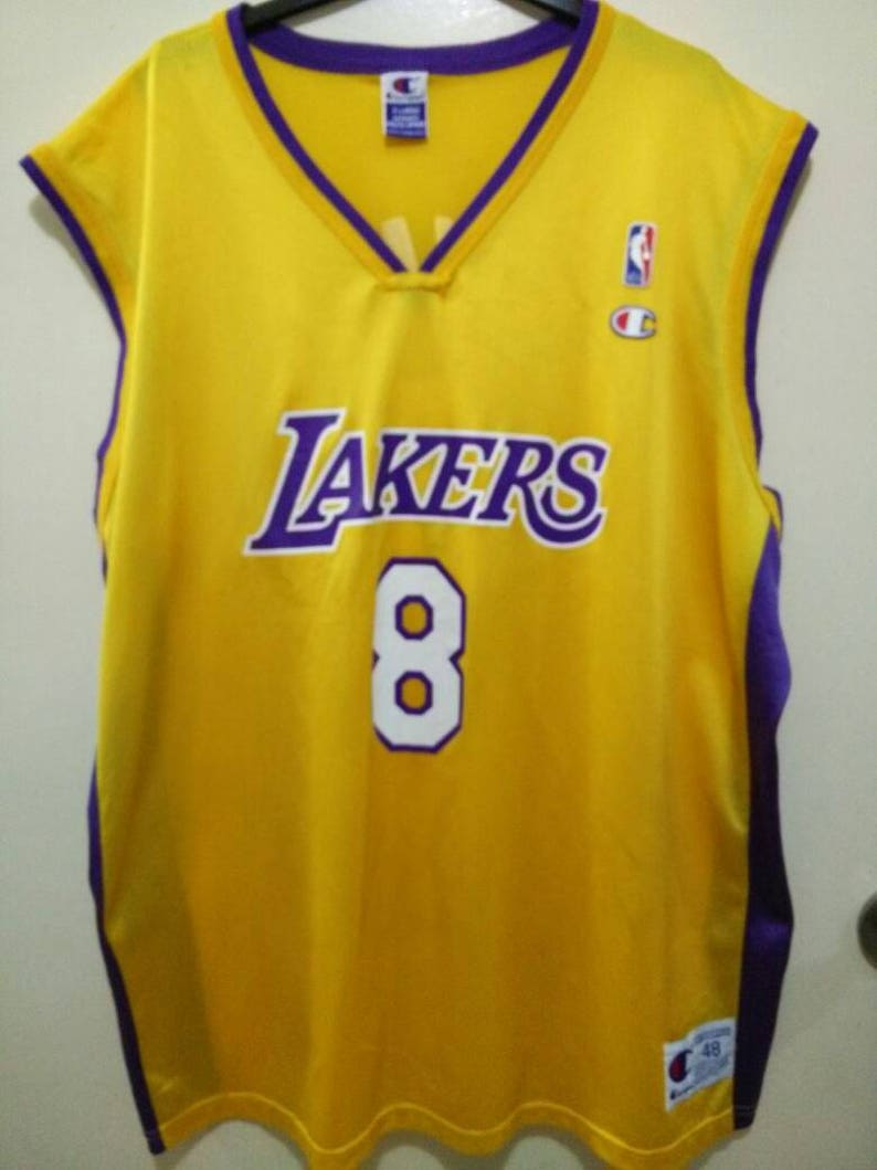 5c135a9979b7 Vintage Kobe Bryant Lakers by Champion Basketball Jersey 8