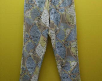 Vintage Designer MODA INTL Full Print Jeans Skinny Rare