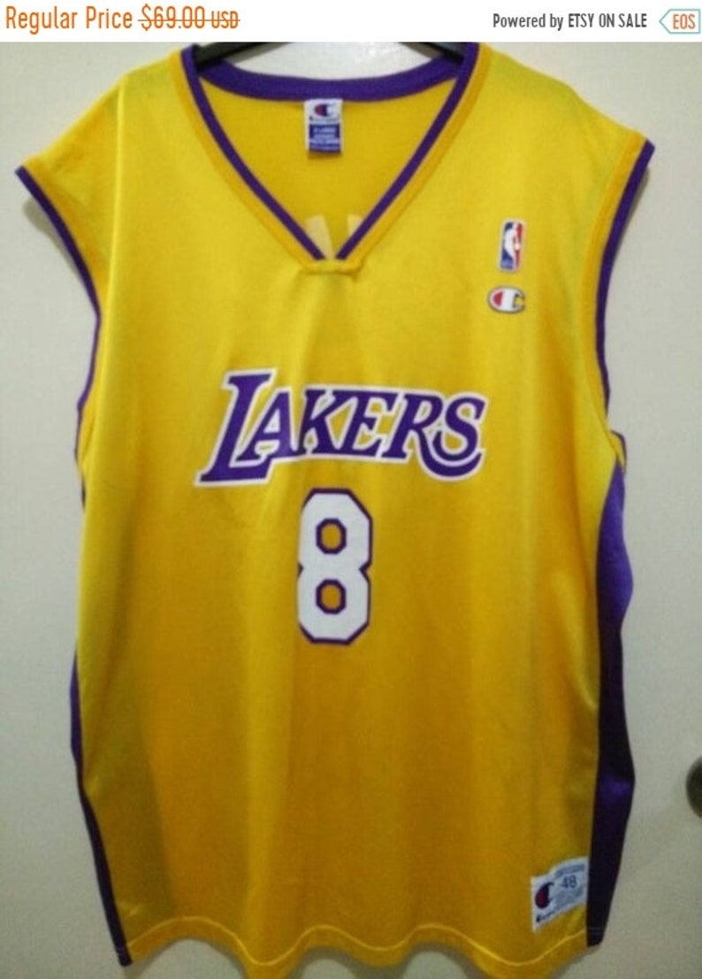 quality design 17daa 55865 Vintage Kobe Bryant Lakers by Champion Basketball Jersey #8