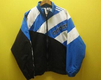 Vintage  90s Adidas Windbreaker  Blue