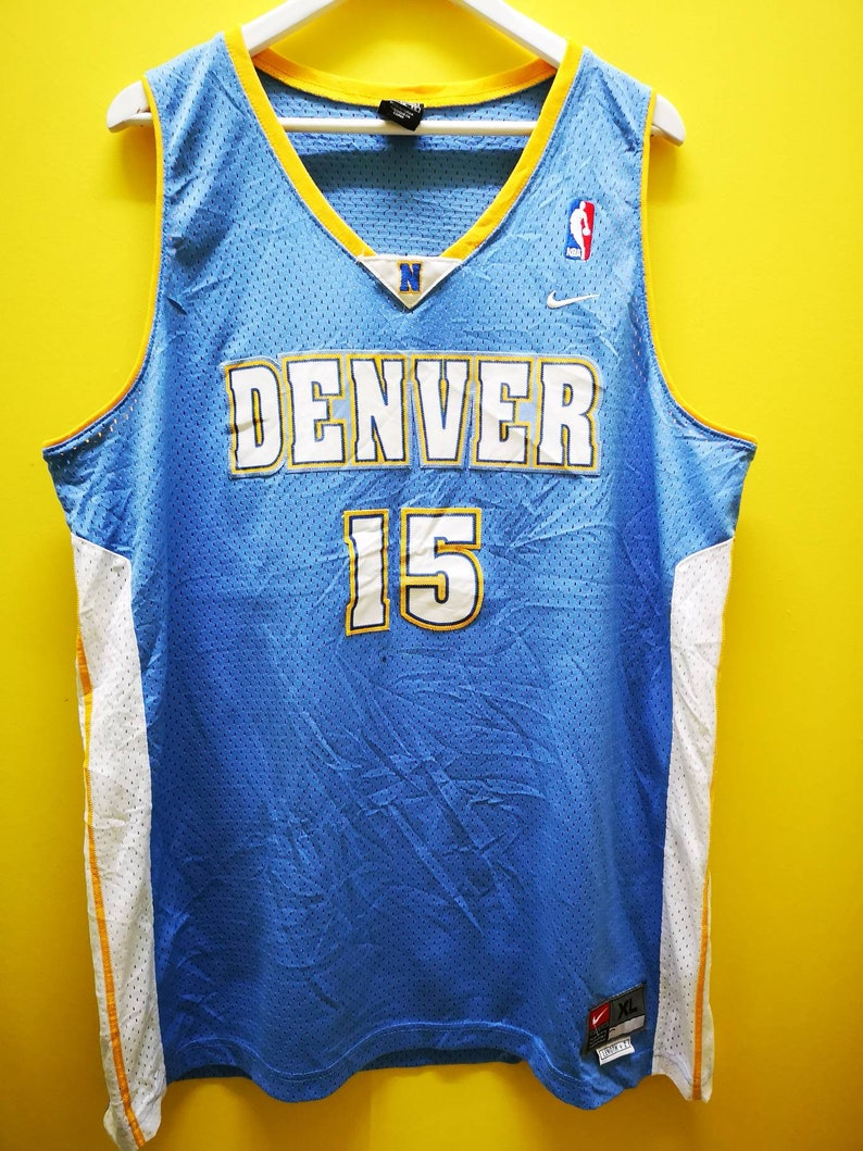 innovative design a212a fcb18 Vintage Denver Nuggets Carmelo Anthony Mitchell 15 Jersey by Nike