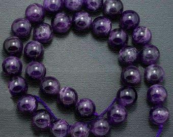 Genuine Amethyst Beads, Purple Wholesale Gemstone beads, Stone Beads, Spacer Beads, Round Natural Beads 2mm 3mm 4mm 6mm 8mm 10mm 12 mm