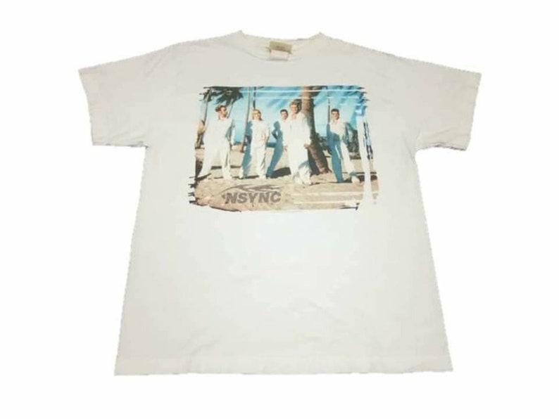 Vintage N/'sync band pop music concert 90s medium t-shirt