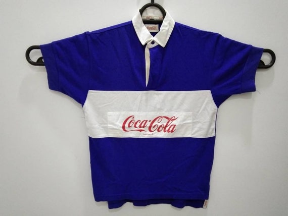 Vintage Coca Cola rugby polo shirt