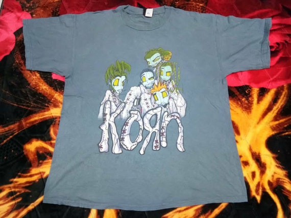 Vintage Korn band metal band 90s xlarge men's t sh
