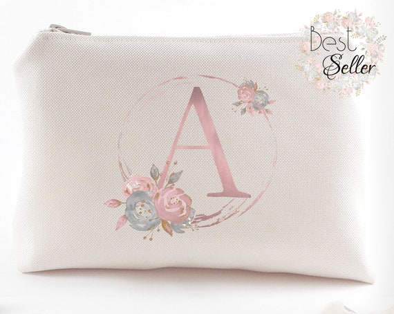 9d136e576a12 Bridal party gift Personalized bridesmaid gift Makeup bag Maid