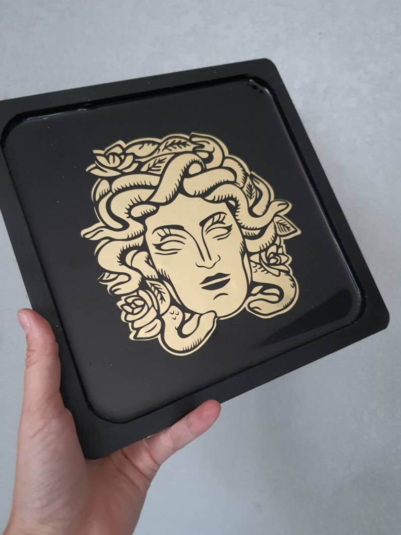 Medusa Customizable Rolling Tray  Made to Order Custom Weed Tray  Weed Gift   Pothead Stoner Gifts  Wood Tray