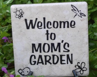 Welcome to Mom's Garden - Gift for Gardener Gift for Mom/Dad's Garden, Mother's Day Father's Day Gift Free Domestic Shipping ChawinsWorkshop