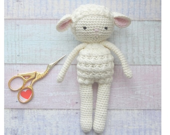 Sheep plush lamb organic cotton, sheep plush toy, handmade, cute stuffed animals