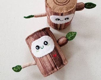 Hug Me Tree Stump Plush