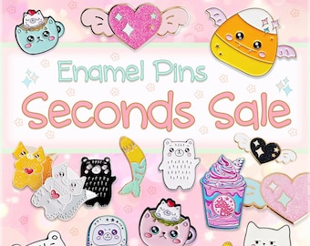 second pins cute pins nature pin wildflower pin SECONDS PINS Pick Any Two Pins \u2022 enamel pins flower pin seconds