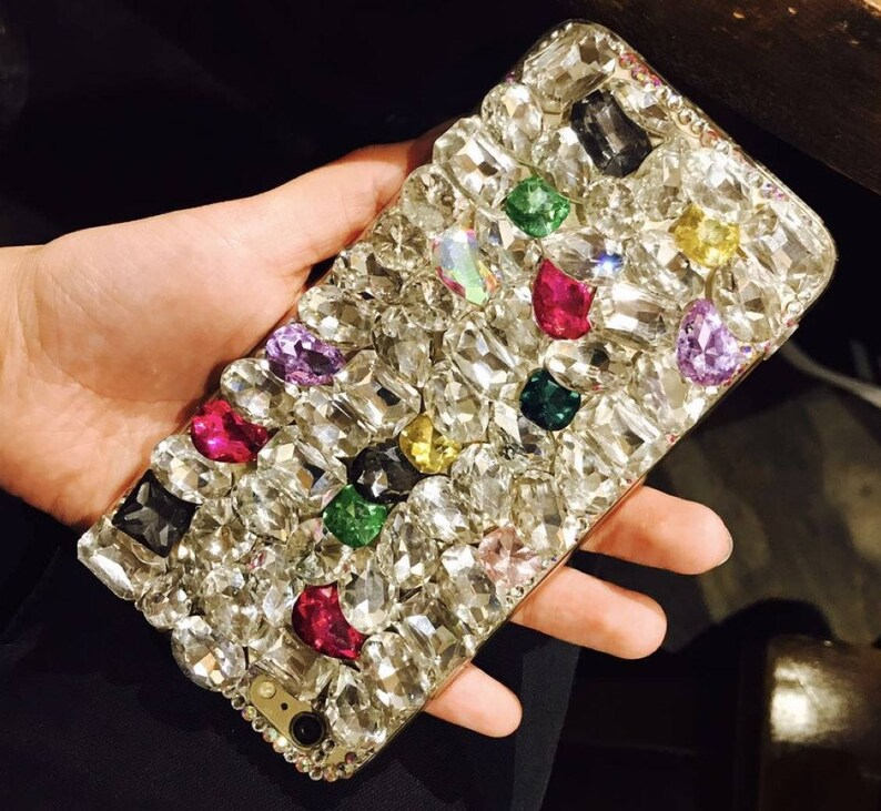980f8f5b5 Mixed Bling Crystal Soft Cell Phone Case for iphone 8 8 plus | Etsy