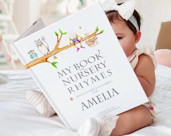 Personalised Nursery Rhyme & Poems Keepsake Book for Newborns and Toddlers