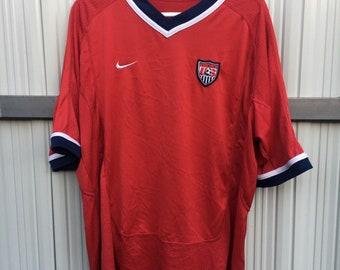 73369075d80 Vintage Nike Team USA Soccer Jersey