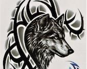 Produkty Podobne Do Wilk Tribal Krwi Zwierzę łowiectwo Dziki