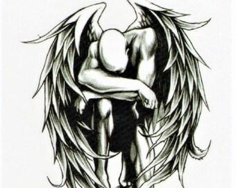 Produkty Podobne Do Anioł Człowiek Gefaflene Anioł Skrzydło