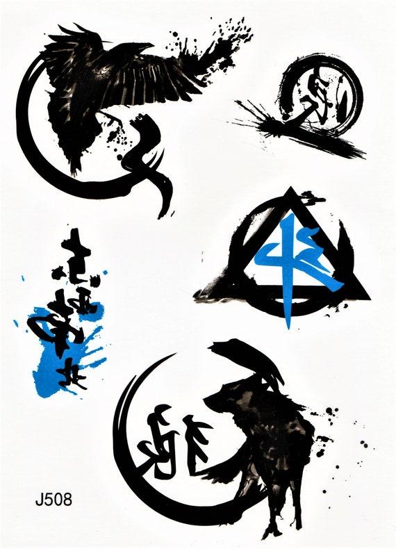 Tatuaggio Lupo Aquila Uccello Tribale Maori Disegno Etsy