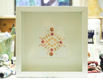 Framed Apple Mandala
