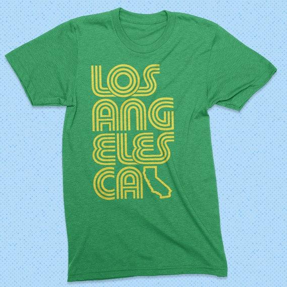 d646abfc4c Los Angeles t shirt - heather green - vintage style, LA, California, retro  shirt, 70s, 80s, 90s, retro graphic tee, vintage t shirt