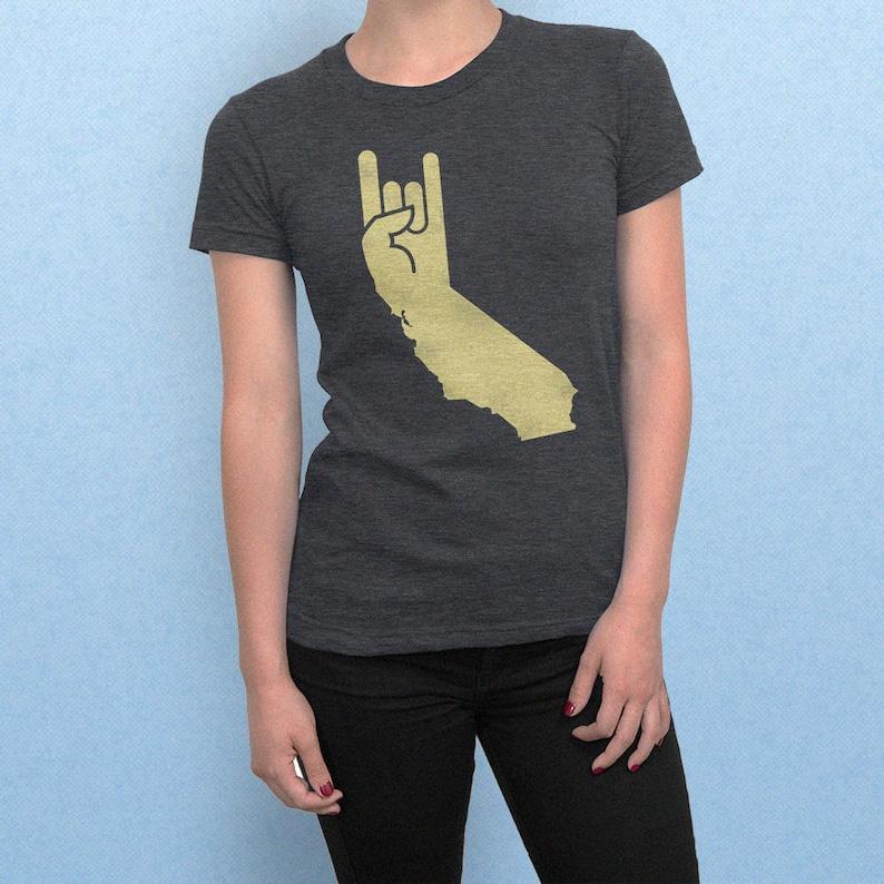 cb0f226bd Vintage California style t shirt Radicalifornia Devil Horns   Etsy