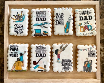 Father's Day, Men's  set of honey cookies. Gingerbreads. Edible Gift Card. Set of 8 cookies.