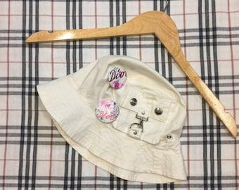 15b2cea7845 Vintage 90s Dior bucket hat