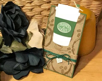 Gift card holder card, Coffee themed gift card holder, Starbucks gift card holder