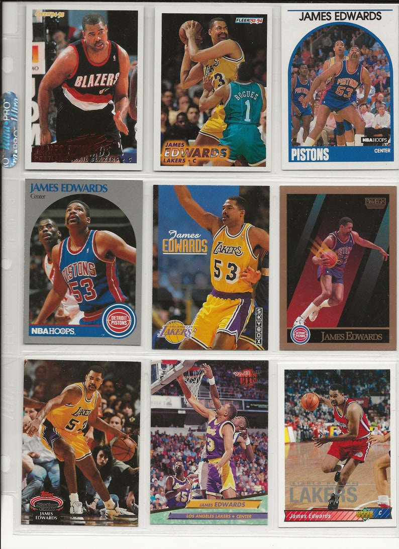 7469a6a2f4b Lot of Basketball Cards of Player James Edwards
