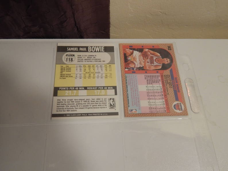 Lot of Basketball Cards of Sam Bowie