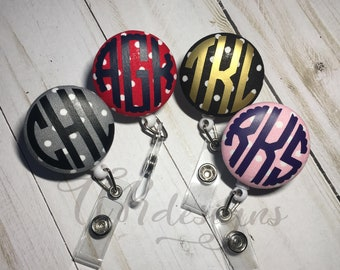 Monogram Badge Reel