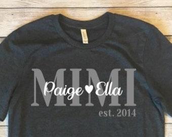 79b65096 Personalized Grandma Gift, Personalized Mother's Day Shirt, Personalized  Shirt for Grandma, Nana, Granny, Granna, Mimi, Mamaw Shirt.