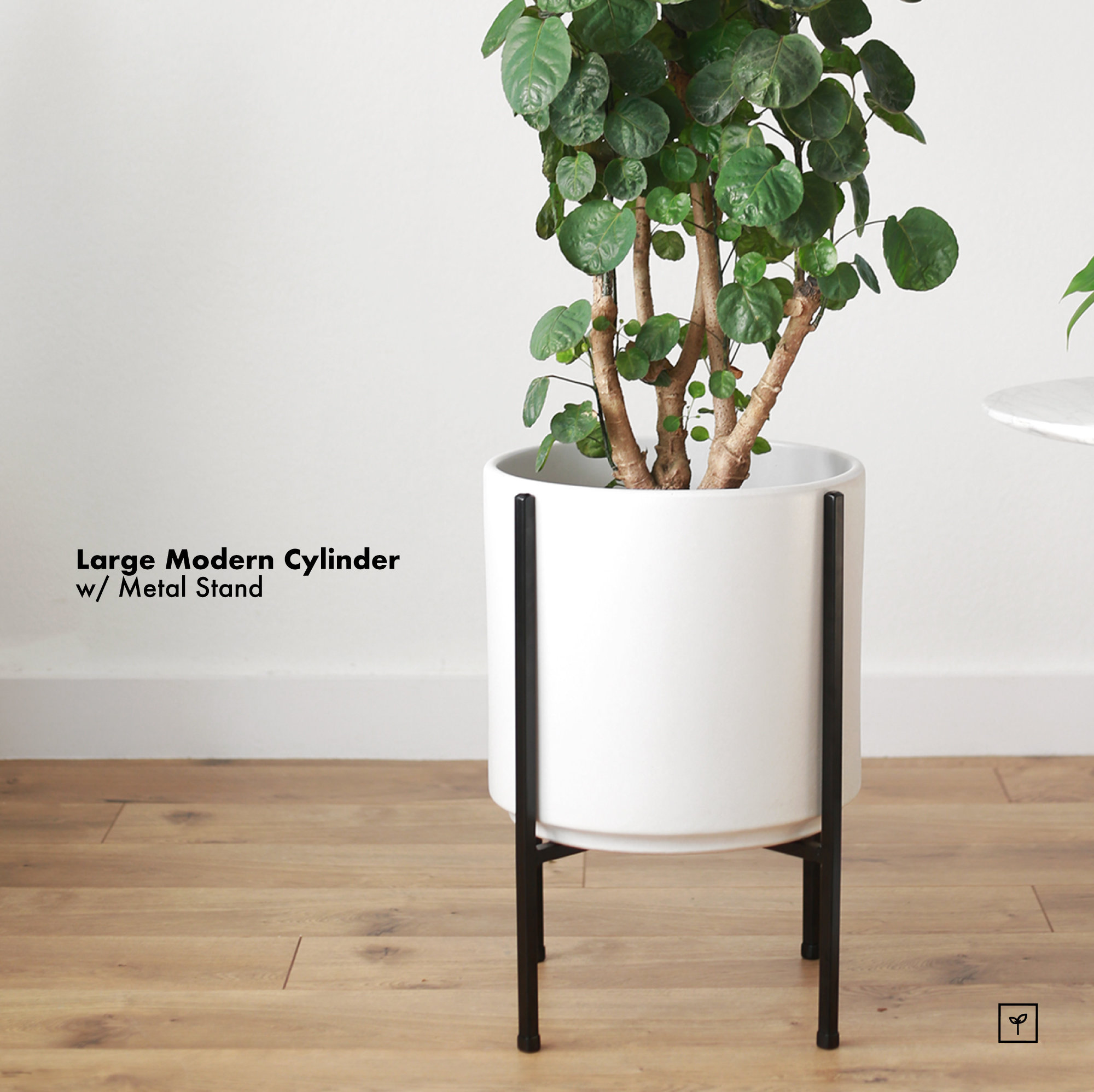 Large MidCentury Modern Metal Plant Stand With Pot 12 Mid Century Modern Metal Plant Stand65