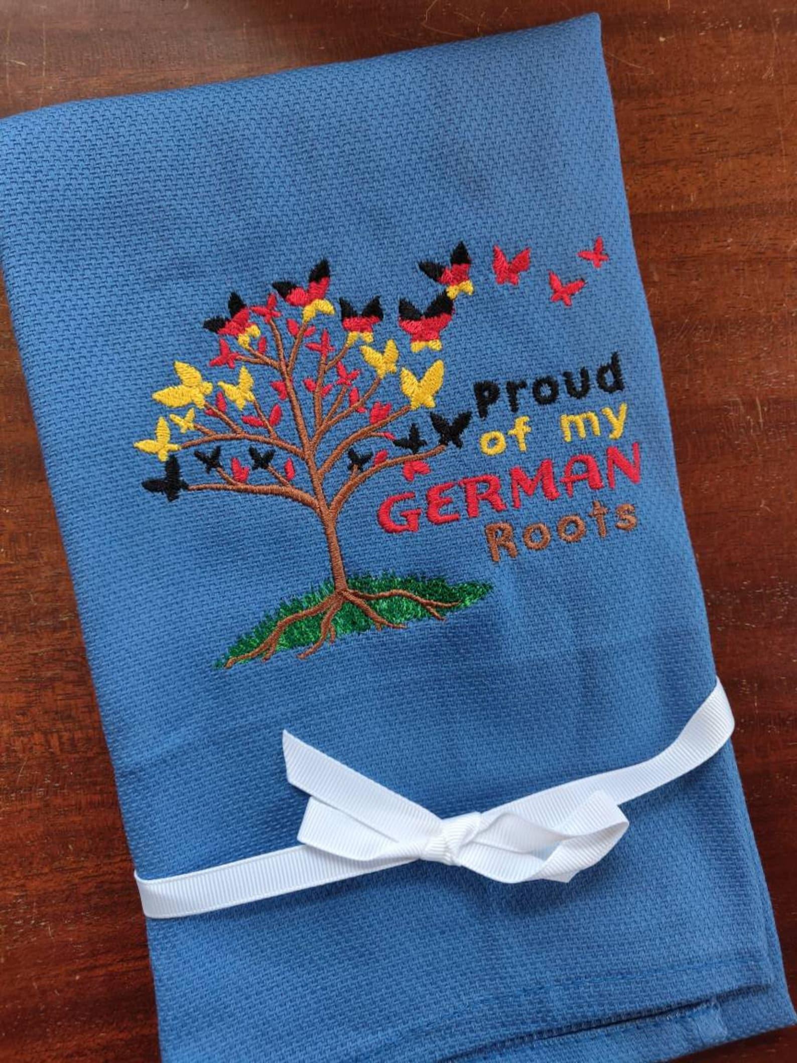 Custom Embroidered tea towel