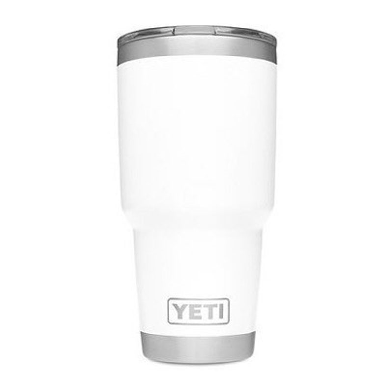 91c4ece683f Custom Engraved White Yeti 30oz Tumbler with maglid