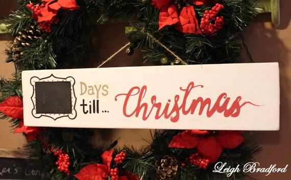 Countdown To Christmas Sign.Days Until Christmas Sign Santa Wood Signs Christmas Wall Decor Wall Art Wood Countdown Christmas Sign Christmas Decor Holiday Decor