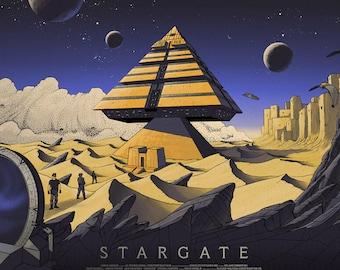 Stargate Screen Print