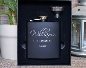 engraved flasks etsy