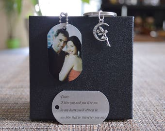 Personalized  Photo Dog Tag Keychain, Custom Photo Tag, Picture Dog Tag, Custom photo keychain, Personalized gift, holiday gifts, tag102