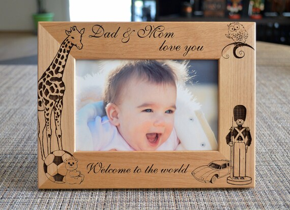 Personalized Picture Frame Baby Photo Frame Custom Photo Etsy