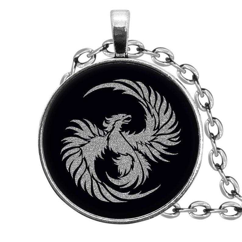 Drop Earrings Tie Clip KeyRing Necklace Finger Ring Stud Earrings Pendant Silver Phoenix \u2022 Jewelry Sets Cufflinks KeyChain
