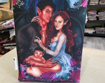 Rhysand, Nyx and Feyre Archeron bookbestie, zip sold separately book sleeve padded and lined book jacket kindle sleeve