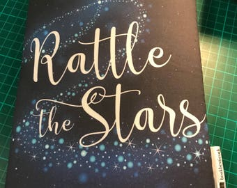 Rattle the stars bookbestie book sleeve padded and lined 2 sizes book jackets, fabric dust jackets